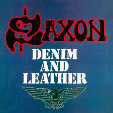 Saxon - Demin and Leather (White Blue Vinyl)