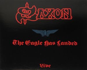 Saxon - The Eagle Has Landed (Live) Red Black Splatter Vinyl