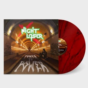 Night Laser - Power To Power (Red Marble Vinyl)