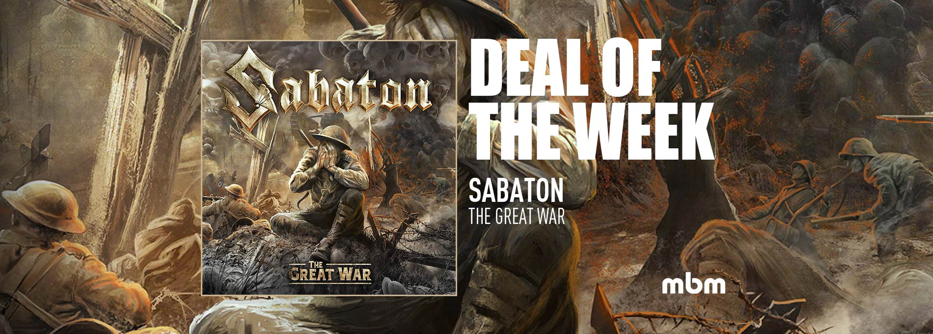 Deal Of The Week: SABATON - The Great War